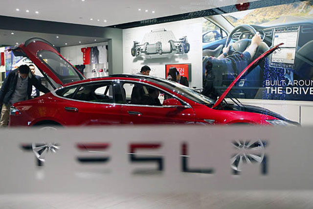 Tesla showroom in New Jersey