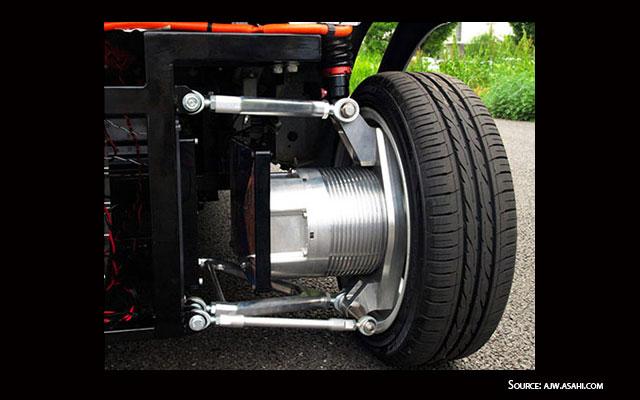 In wheel wireless motor