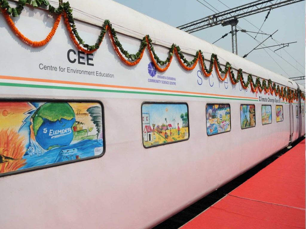Science Express Climate Action Special in New Delhi
