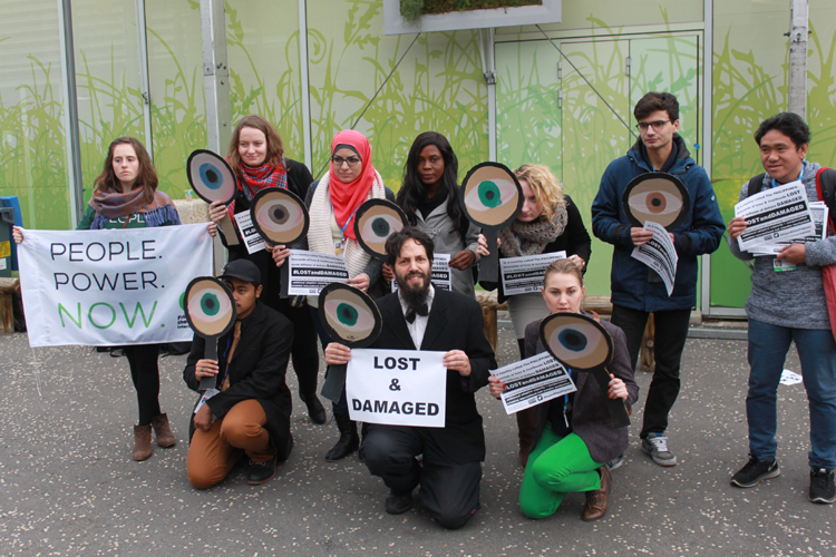 NGOs protest at CoP21 in Paris