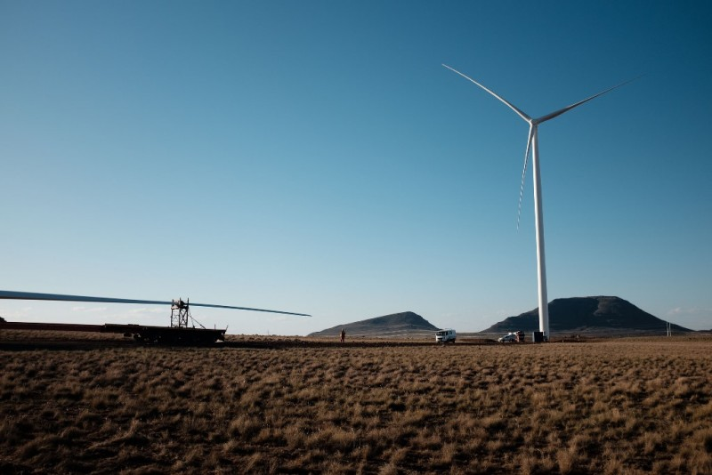 Mainstream's Noupoort wind farm - under construction