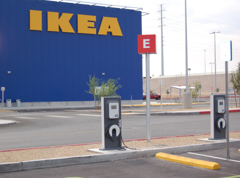 IKEA installs 3 Blink EV charging stations at Nevada