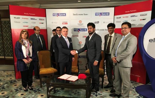 Gyanesh Chaudhary, MD & CEO, Vikram Solar with Mikhael Mirilashvili, President, Water-Gen