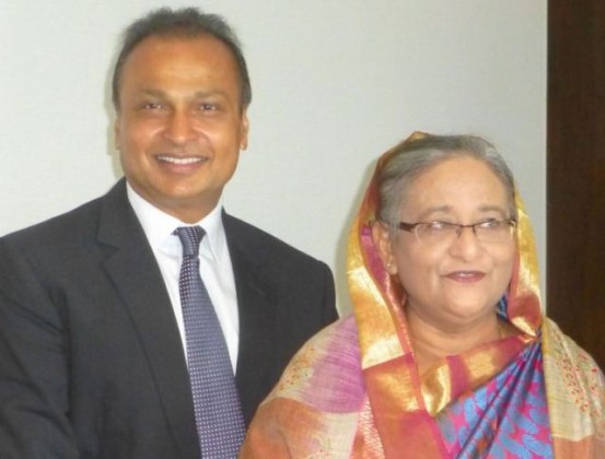 Anil Ambani, Chairman - Reliance Group with Bangladesh Prime Minister Sheikh Hasina