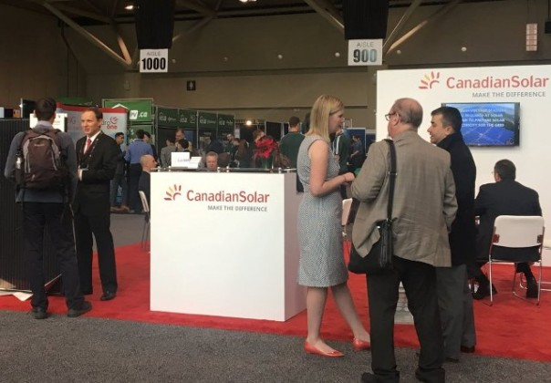 Canadian Solar at a trade show