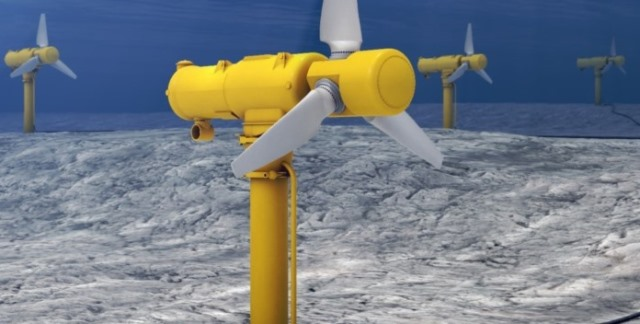 GE tidal turbine project