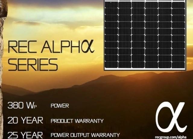 REC Alpha solar