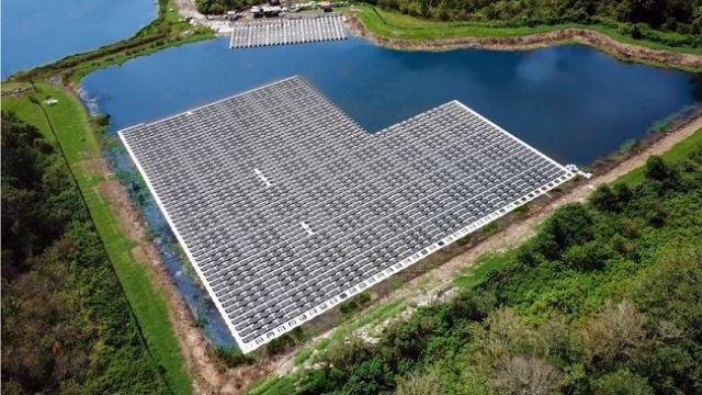 Duke Energy floating solar power plant