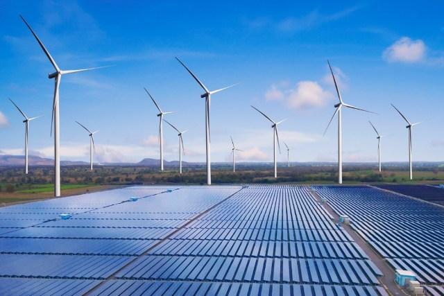 Solar and wind farm business
