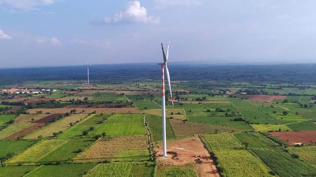GE 2.7 MW wind turbine model